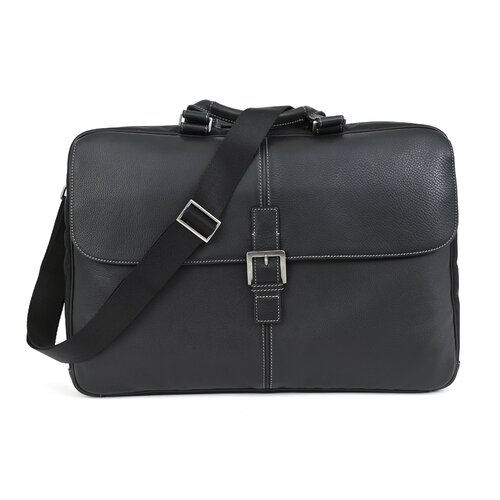 Boconi Tyler Tumbled Dispatche Slim Leather Laptop Briefcase