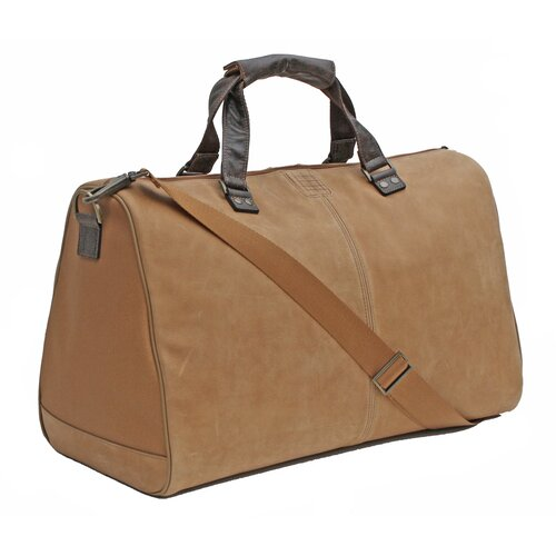 "Boconi Leon 20"" Leather Weekender Duffel"