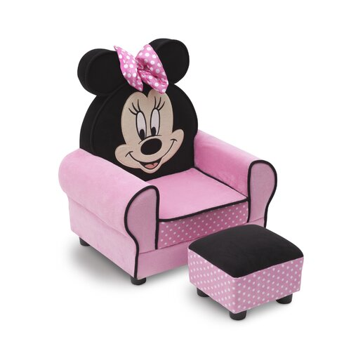Delta Children Minnie Mouse Kids Club Chair and Ottoman & Reviews ...