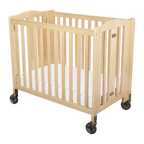 Freeport Foldaway Child Care Fixed-Side Crib