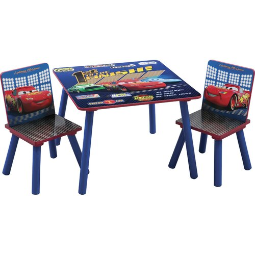 Delta Children Disney Pixar's Cars Kids' 3 Piece Table and Chair Set