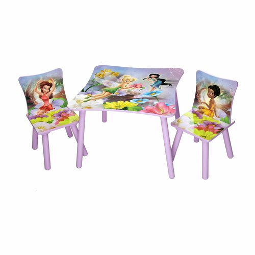 Delta Children Disney Fairies Kids' 3 Piece Table and Chair Set