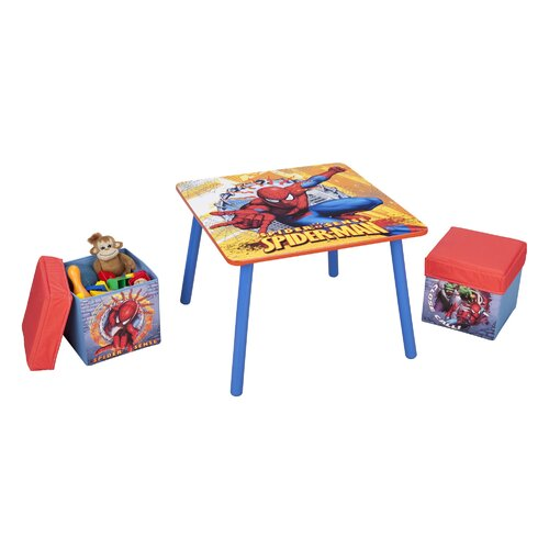 Delta Children Spiderman Table and Ottoman Set