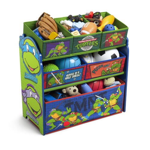 Delta Children Ninja Turtles Multi Bin Storage Organizer