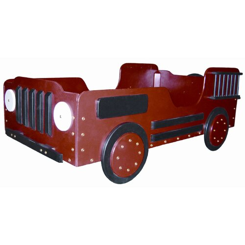 Just Kids Stuff Fire Truck Wood Toddler Bed