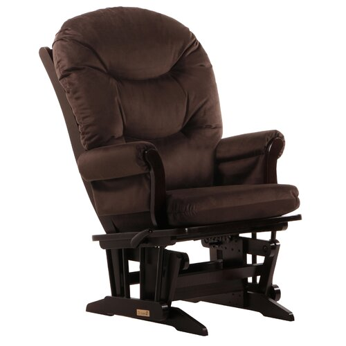 Soft Microfiber Sleigh Multi Position Recline Glider and Ottoman