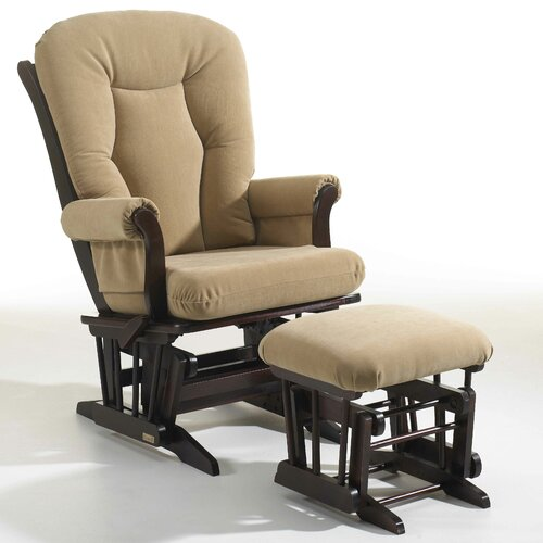 Sleigh Multi-Position Recline Glider and Ottoman