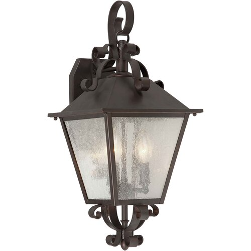 Forte Lighting 3 Light OutdoorWall  Lantern
