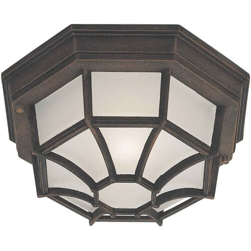 Forte Lighting 1 Light Outdoor Flush Mount