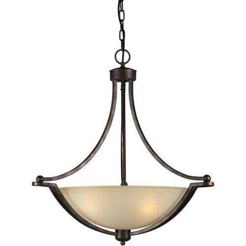Forte Lighting 4 Light Bowl Inverted Pendant