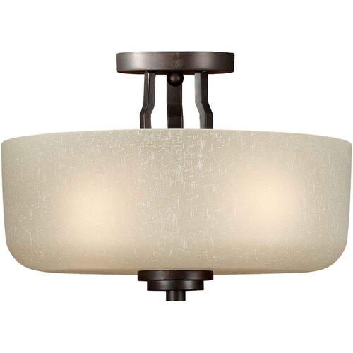 Forte Lighting 3 Light Semi Flush Mount