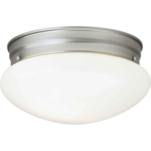 Forte Lighting 2 Light Opal Flush Mount