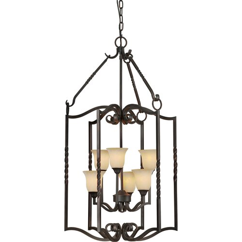 Forte Lighting 6 Light Foyer Pendant