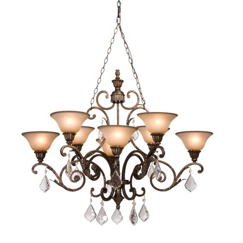 Florence 8 Light Oval Chandelier