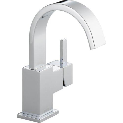 Vero Single Hole Bathroom Faucet with Metal Pop-Up Drain