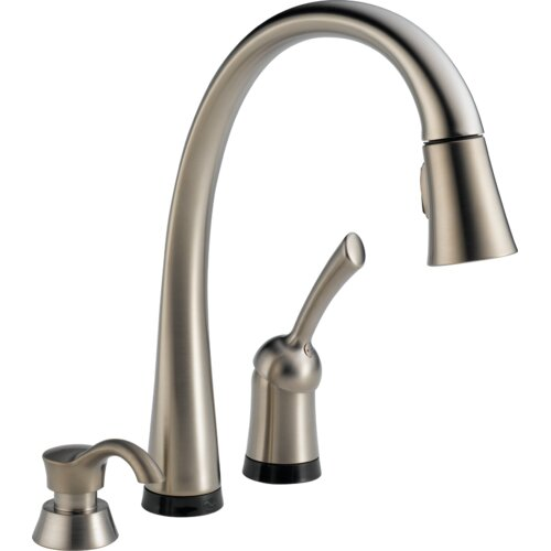 Delta Pilar Pull-Down Single Handle Widespread Kitchen Faucet with Touch Technology