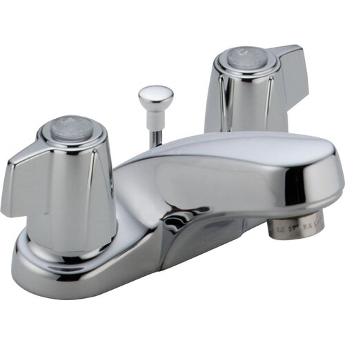 Delta Classic Centerset Bathroom Faucet with Pop-Up Drain
