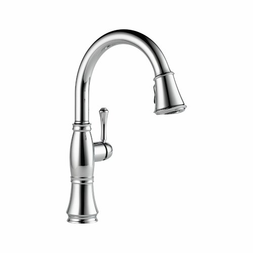 delta cassidy single handle deck mounted kitchen faucet