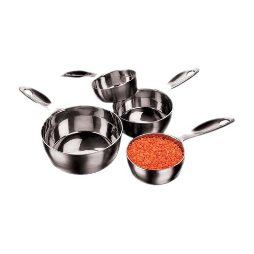 Amco Houseworks Stainless Steel Four Piece Measuring Cups