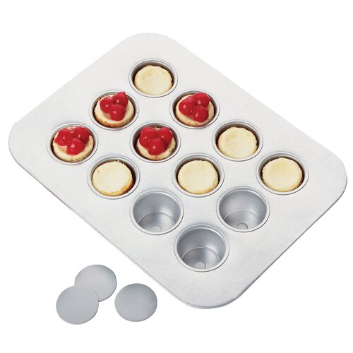 12 Cup Mini Chicago Metallic Cheese Cake Pan