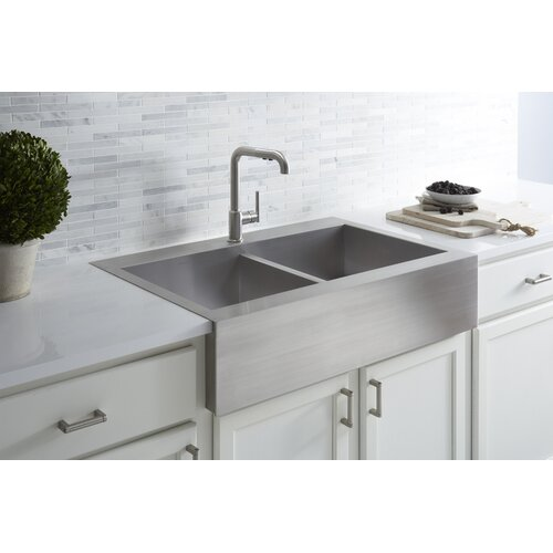 Best Apron Front Sink : ... Stainless Steel Kitchen Sink with Shortened Apron-Front for 36