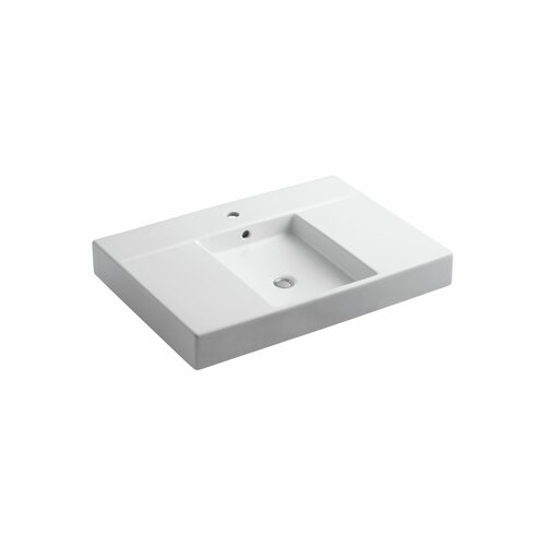 Traverse Top and Basin Lavatory with Single-Hole Faucet Drilling