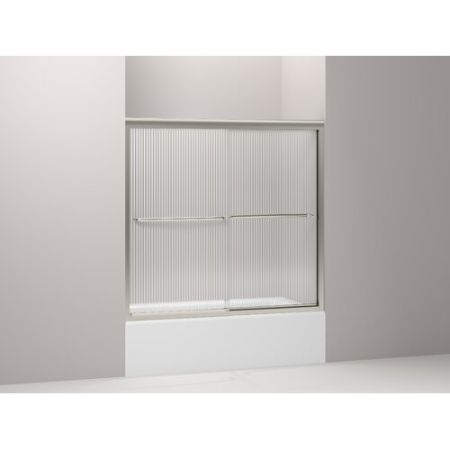 "Kohler Fluence 54"" - 57"" W x 55.75"" H Sliding Bath Door with Crystal Clear Glass"