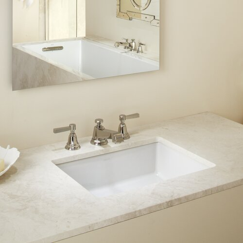 Rectangular Bathroom Sinks Undermount : Kohler Verticyl Rectangular Undermount Bathroom Sink & Reviews ...
