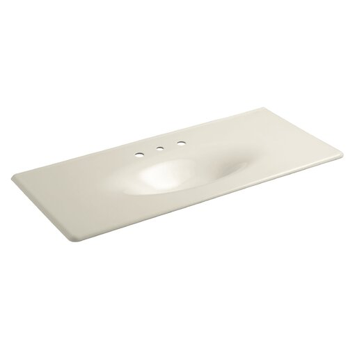 "Kohler Iron/Impressions 49"" One-Piece Surface with Integrated Lavatory and 8"" Centers"