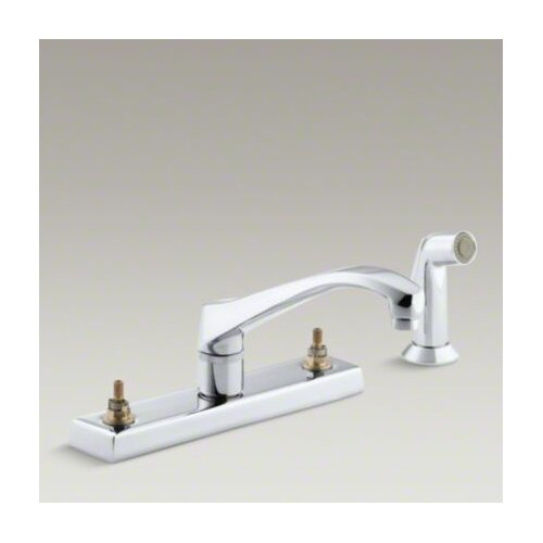 Kohler Triton Kitchen Faucet with Escutcheon and Sidespray, Requires Handles