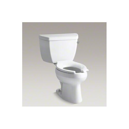 Kohler Wellworth Classic Pressure Lite Elongated 1.4 Gpf Toilet with Tank Cover Locks and Right-Hand Trip Lever, Less Seat