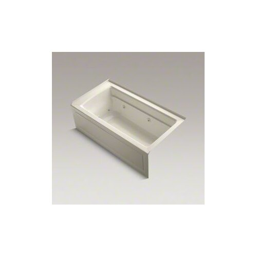 "Kohler Archer 60"" X 32"" Alcove Whirlpool Bath with Integral Apron, Tile Flange and Right-Hand Drain"