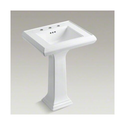 "Kohler Memoirs Classic 24"" Pedestal Lavatory with 8"" Centers"