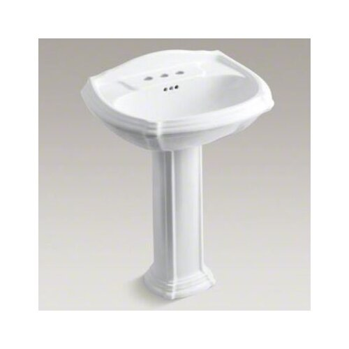 Portrait Pedestal Lavatory with 4
