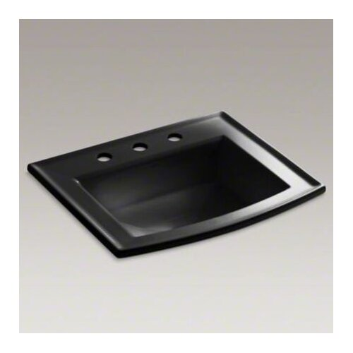 "Kohler Archer Drop-In Bathroom Sink with 8"" Widespread Faucet Holes"