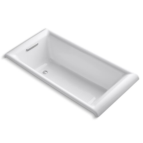 "Kohler Parity 66"" X 33"" Under-Mount Bath with Safeguard Finish and Comfort Depth Design"