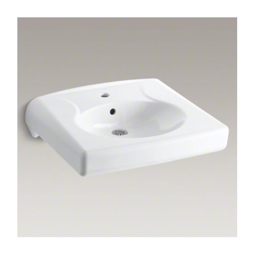 Brenham Wall-Mount Lavatory with Single-Hole Drilling, Less Soap Dispenser Hole