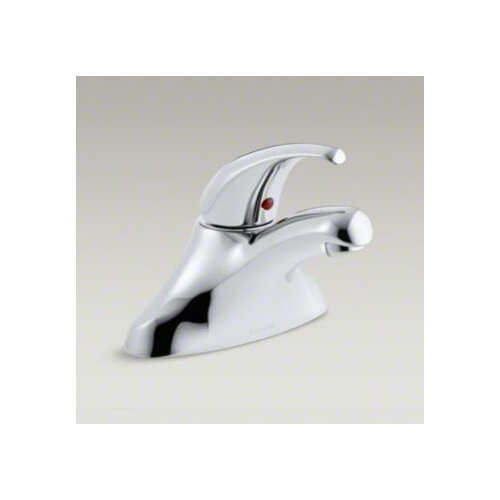 Coralais Single-Control Centerset Lavatory Faucet with Lever Handle and Flexible Supplies, Less ...