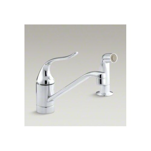 "Kohler Coralais Single-Control Kitchen Faucet, 8-1/2"" Swing Spout and Sidespray"