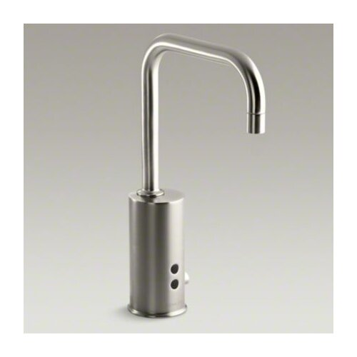 Hybrid Gooseneck Touchless Deck-Mount Faucet with Mixer