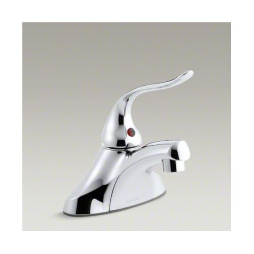 Coralais Single-Control Centerset Lavatory Faucet with Grid Drain and 5