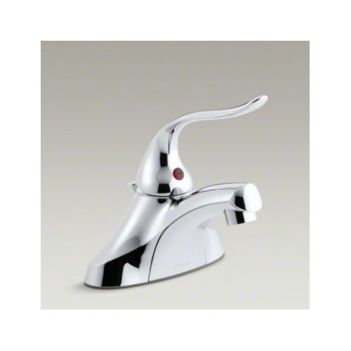 Coralais Single-Control Centerset Lavatory Faucet with Pop-Up Drain, Ground Joints, 1.5 GPM ...