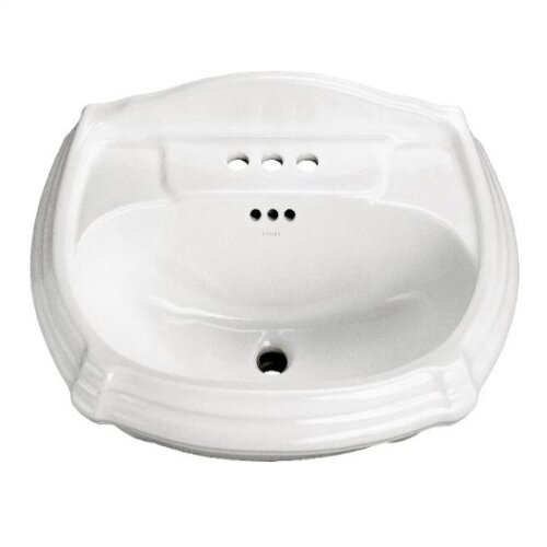 Portrait Pedestal Lavatory Basin with 4
