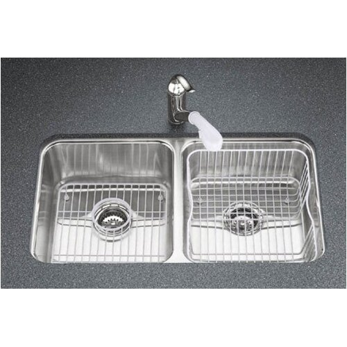 "Kohler Undertone 31-1/2"" X 18"" X 9-1/2"" Under-Mount Double-Equal Bowl Kitchen Sink"