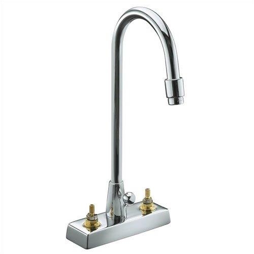 Kohler Triton Centerset Lavatory Faucet with Gooseneck Spout, Requires Handles