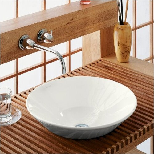 Above Counter Vessel Sink : Kohler Conical Bell Vessel Above-Counter or Wall-Mount Bathroom Sink ...
