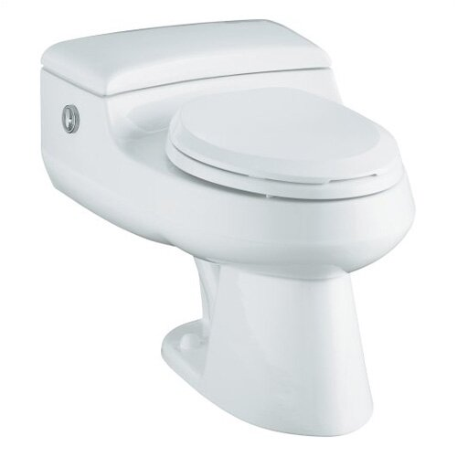 Kohler San Raphael Comfort Height One-Piece Elongated Dual-Flush Toilet with Power Lite Flush Technology and Left-Hand Trip Lever
