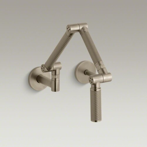 Karbon Wall-Mount Kitchen Faucet with Bronze Tube