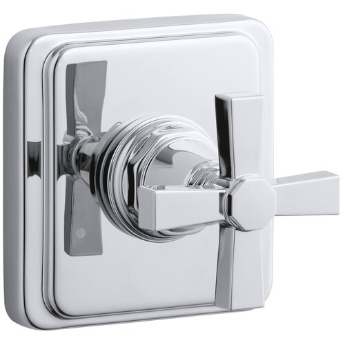 Kohler Pinstripe Pure Transfer Valve Trim, Cross Handle, Valve Not Included