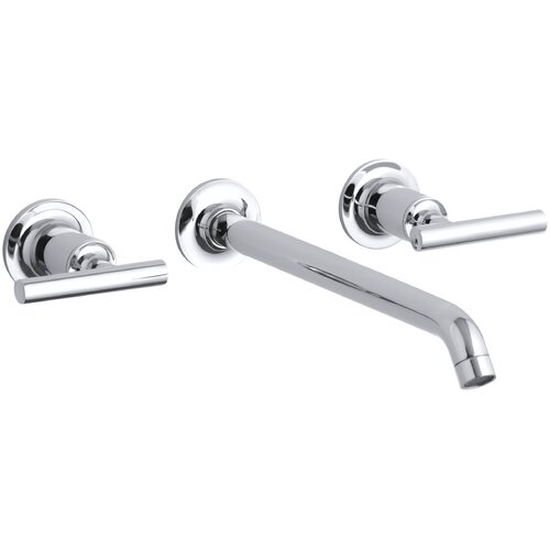 Purist Widespread Wall-Mount Bathroom Faucet Trim with Lever Handles and 10-1/4